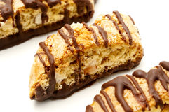 Chocolate biscotti Stock Images