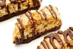 Chocolate biscotti Stock Images