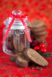 Chocolate biscotti Royalty Free Stock Photography