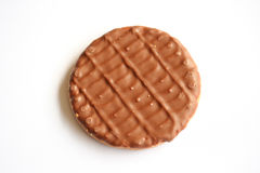 Chocolate Biscuit. A milk chocolate covered biscuit royalty free stock image