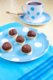 Chocolate biscuit balls Stock Photo