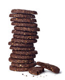Chocolate biscuit cake food sweet stock images