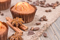 Chocolate biscuit cakes Stock Image
