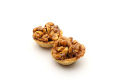 Chocolate biscuit with Cashew nuts Royalty Free Stock Photos