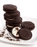 Chocolate Biscuit Cookies Stock Photography