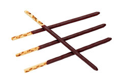 Chocolate biscuit stick Stock Images
