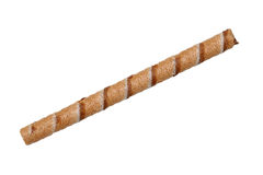 Chocolate biscuit stick straw. Isolated on white background Stock Photography