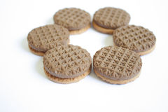Chocolate biscuit Royalty Free Stock Images
