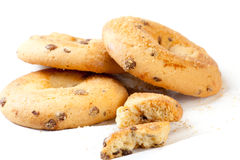 Chocolate biscuites. Have a sweet morning with a couple of chocolate biscuits Stock Image