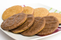 Chocolate biscuits Royalty Free Stock Image