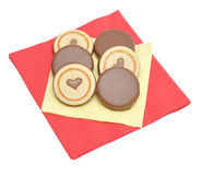 Chocolate biscuits Royalty Free Stock Photography
