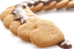 Chocolate on biscuits Royalty Free Stock Photos