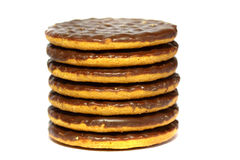 Chocolate biscuits B Stock Photography