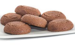 Chocolate biscuits isolated Stock Photos