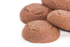 Chocolate biscuits isolated Royalty Free Stock Photo