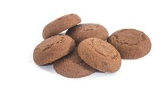 Chocolate biscuits isolated Stock Image