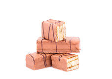 Chocolate biscuits Stock Images