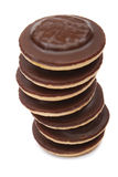 Chocolate biscuits tower Royalty Free Stock Photography