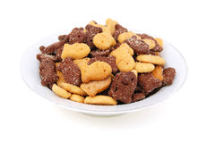 Chocolate biscuits variety Stock Photography
