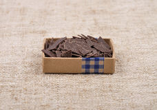 Chocolate bits Royalty Free Stock Image