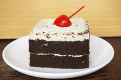 Chocolate black forest cake Royalty Free Stock Photography