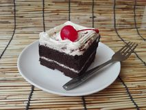 Chocolate black forest cake Stock Images