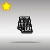 Chocolate black Icon button logo symbol Stock Images