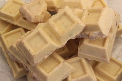 Chocolate blanco Imagen de archivo libre de regalías
