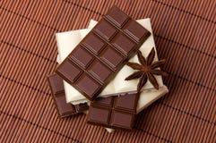 Chocolate blanco y negro Fotografía de archivo