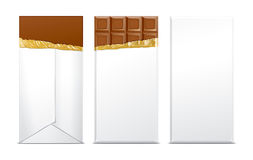 Chocolate blank package Stock Photography