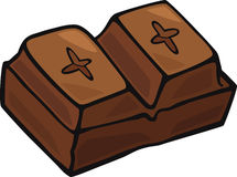 Chocolate block Royalty Free Stock Photos