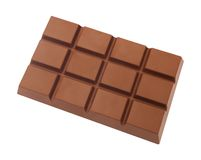 Chocolate Block. Against a white background. Isolation is on a transparent layer in the PNG format stock photography