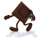 Chocolate block with arms and legs that runs Stock Images