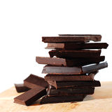 Chocolate blocks. Closep... mmm yummy Royalty Free Stock Photos