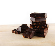 Chocolate blocks. Closeup... mmm yummy Royalty Free Stock Photos