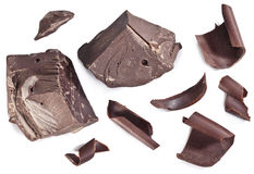 Chocolate blocks isolated. Stock Photography