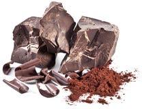 Chocolate blocks isolated. Stock Photography
