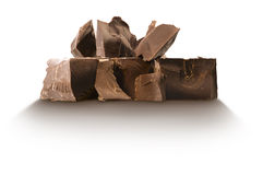 Chocolate blocks Stock Photo