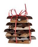 Chocolate blocks present Royalty Free Stock Photos