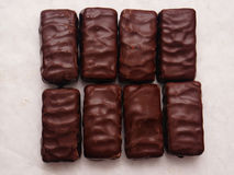 Chocolate blocks Stock Image