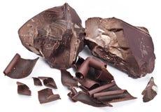 Chocolate blocks on a white background. Royalty Free Stock Image
