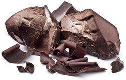 Chocolate blocks on a white background. Stock Image