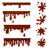 Chocolate blots, splashes and smudges. Vector illustration of chocolate blots, splashes and smudges Stock Photography