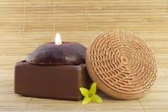 Chocolate body care Stock Image