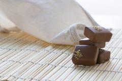 Chocolate bombon Stock Images