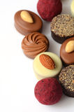 Chocolate bon bons Stock Photos