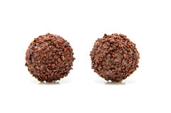 Chocolate bonbon. On white background stock image