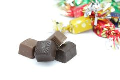 Chocolate bonbons Stock Images