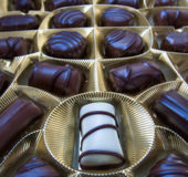 Chocolate bonbons Royalty Free Stock Images