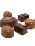 Chocolate bonbons Royalty Free Stock Photos